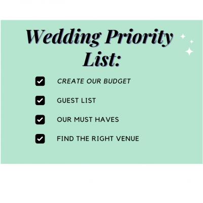 Determining  Your Priorities When Planning Your Wedding